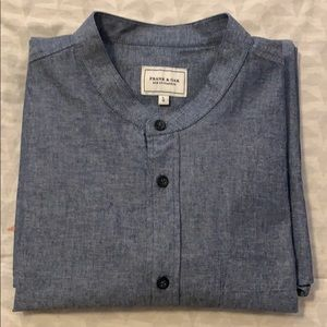 Frank & Oak band collar shirt